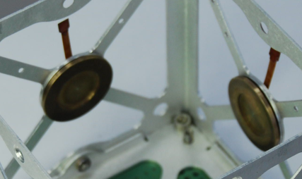 Close-up of GOLIAT's reaction wheels