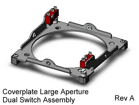 CubeSat Kit Large-Aperture Cover Plate Assy with dual separation switches