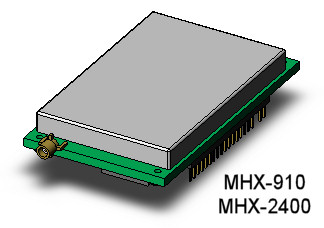 Microhard MHX series transceiver module CAD model